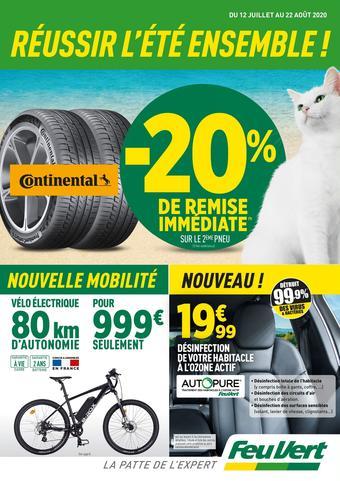 Feu Vert catalogue publicitaire (valable jusqu'au 22-08)