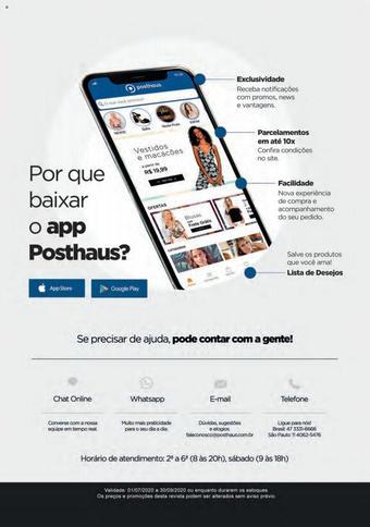 Posthaus catálogo promocional (válido de 10 até 17 30-09)