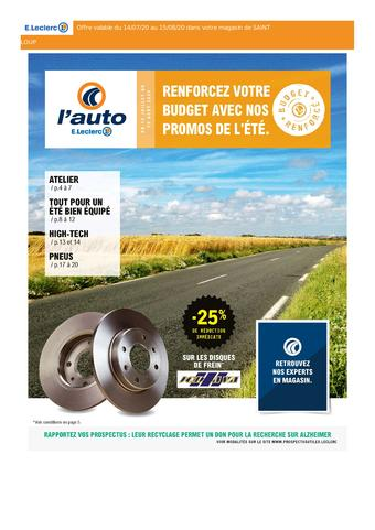 E.Leclerc L'Auto catalogue publicitaire (valable jusqu'au 15-08)