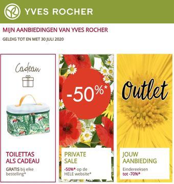 Yves Rocher reclame folder (geldig t/m 30-07)