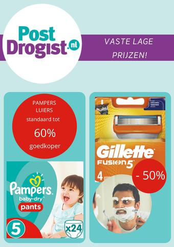 Postdrogist.nl reclame folder (geldig t/m 16-08)