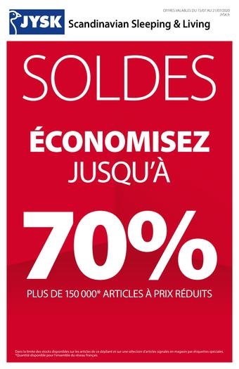 JYSK catalogue publicitaire (valable jusqu'au 21-07)