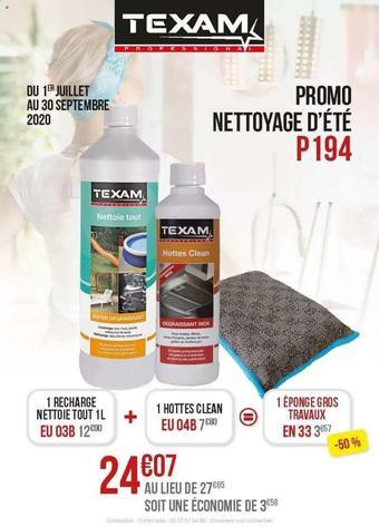 Texam catalogue publicitaire (valable jusqu'au 30-09)