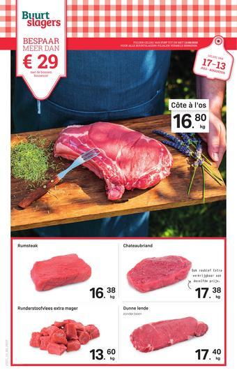 Buurtslagers reclame folder (geldig t/m 13-08)