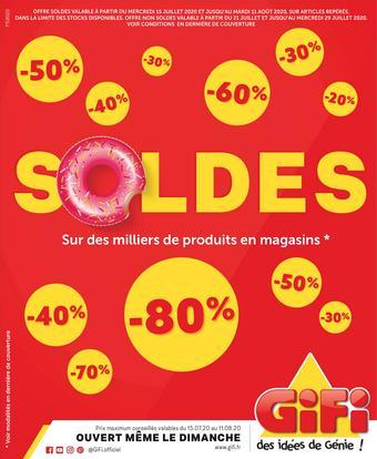 Gifi catalogue publicitaire (valable jusqu'au 11-08)