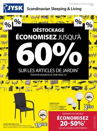 JYSK catalogue publicitaire (valable jusqu'au 03-08)