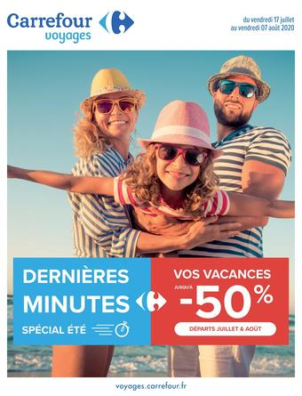 Carrefour Voyages catalogue publicitaire (valable jusqu'au 07-08)