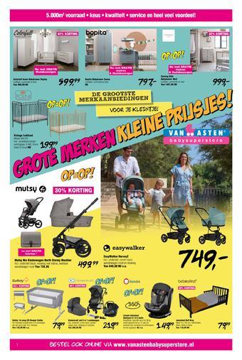 Van Asten BabySuperstore reclame folder (geldig t/m 05-09)