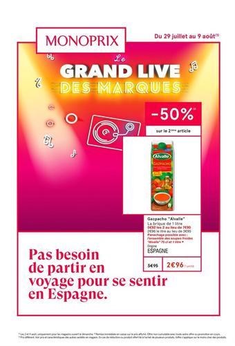 Monoprix catalogue publicitaire (valable jusqu'au 09-08)