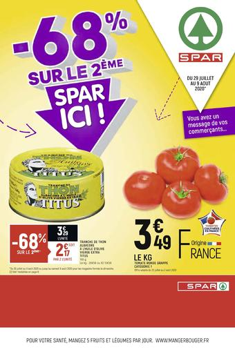 Spar catalogue publicitaire (valable jusqu'au 09-08)