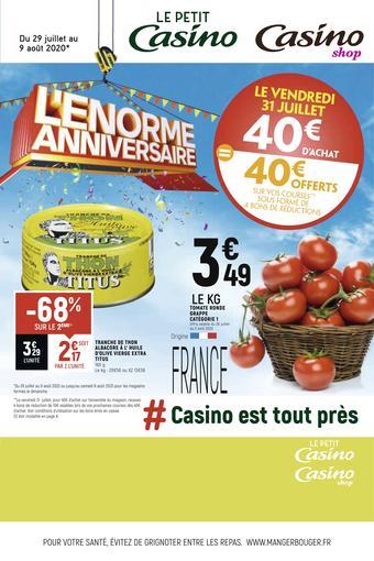 Petit Casino catalogue publicitaire (valable jusqu'au 09-08)