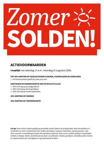 Carpetright reclame folder (geldig t/m 31-08)
