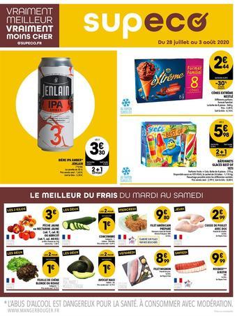 Supeco catalogue publicitaire (valable jusqu'au 03-08)