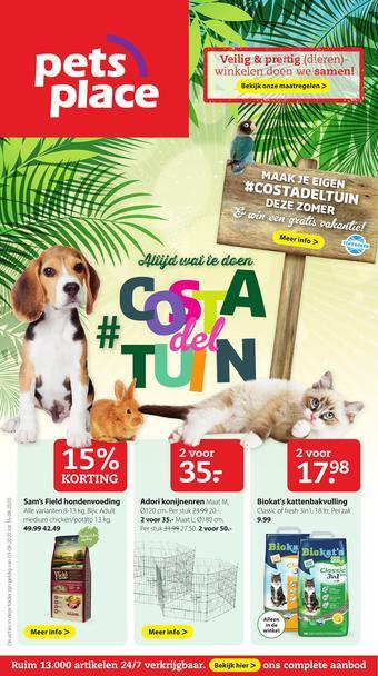 Pets Place reclame folder (geldig t/m 16-08)