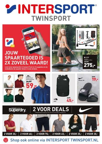 Intersport Twinsport reclame folder (geldig t/m 16-08)