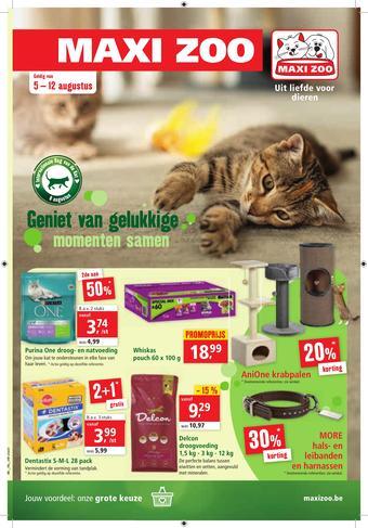 Maxi Zoo reclame folder (geldig t/m 12-08)