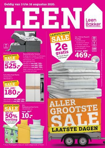 Leen Bakker reclame folder (geldig t/m 16-08)