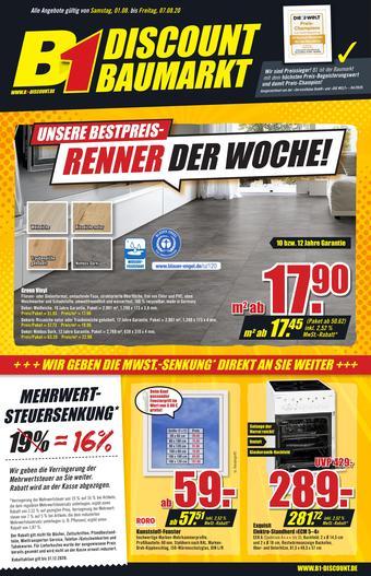 B1 Discount Baumarkt Prospekt (bis einschl. 07-08)