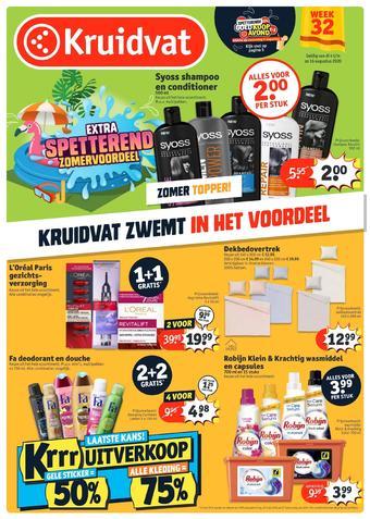 Kruidvat reclame folder (geldig t/m 16-08)