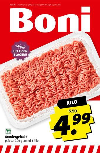 Boni reclame folder (geldig t/m 11-08)
