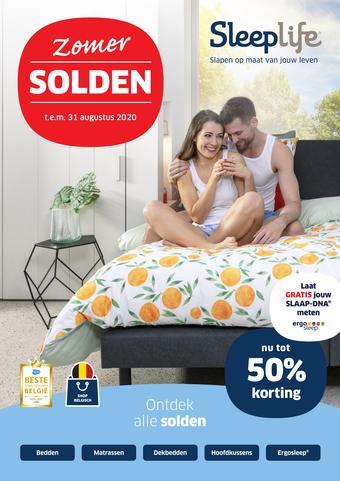 Sleeplife reclame folder (geldig t/m 31-08)
