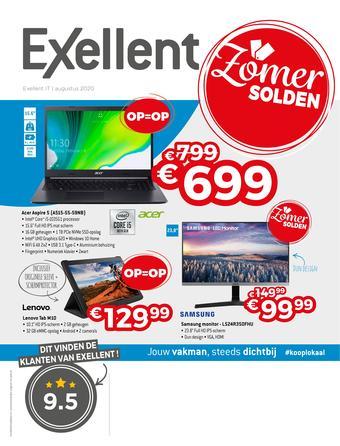 Exellent reclame folder (geldig t/m 31-08)