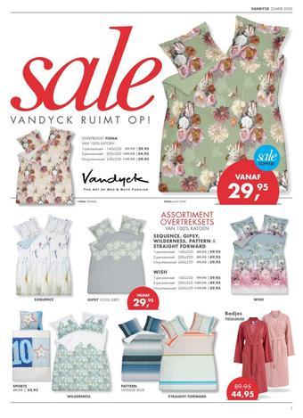 Van Dyck shop reclame folder (geldig t/m 31-08)