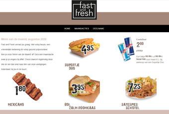 Fast and Fresh reclame folder (geldig t/m 31-08)