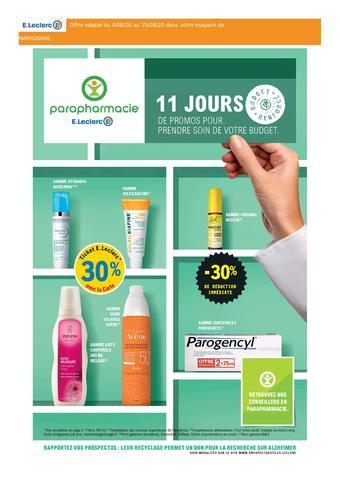 E.Leclerc Parapharmacie catalogue publicitaire (valable jusqu'au 15-08)