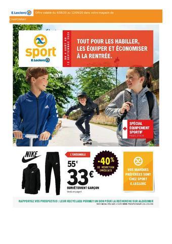 E.Leclerc Sports catalogue publicitaire (valable jusqu'au 12-09)