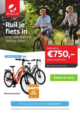 Stella fietsen reclame folder (geldig t/m 09-08)