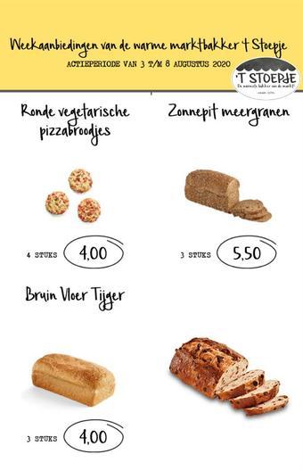 Bakkerij 't Stoepje reclame folder (geldig t/m 08-08)