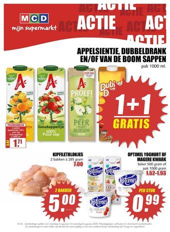MCD Supermarkt reclame folder (geldig t/m 08-08)