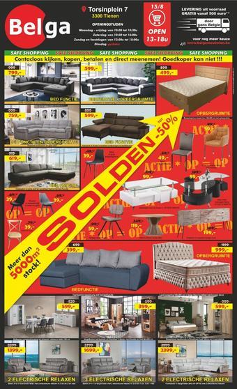 Belga Meubelen reclame folder (geldig t/m 31-08)