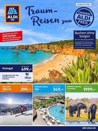 Aldi Süd Reisen Prospekt (bis einschl. 31-08)
