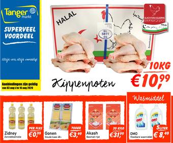 Tanger Markt reclame folder (geldig t/m 16-08)