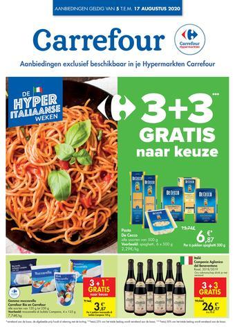 Carrefour reclame folder (geldig t/m 17-08)