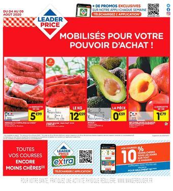 Leader Price catalogue publicitaire (valable jusqu'au 09-08)