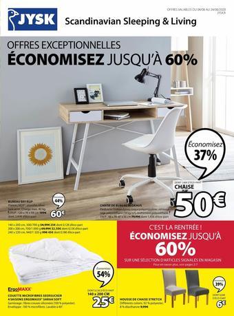 JYSK catalogue publicitaire (valable jusqu'au 24-08)