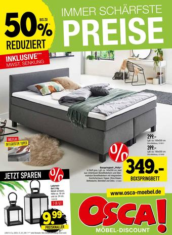 Osca Möbel Prospekt (bis einschl. 11-08)