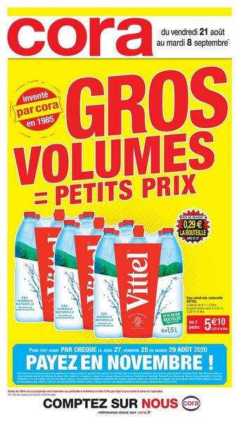 Cora catalogue publicitaire (valable jusqu'au 08-09)