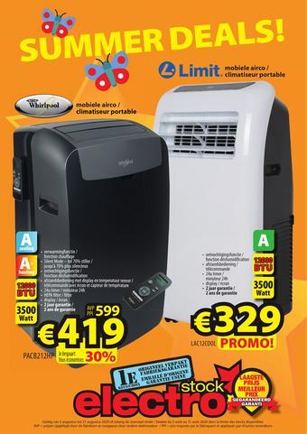 ElectroStock reclame folder (geldig t/m 31-08)