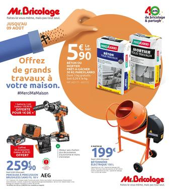 Mr Bricolage catalogue publicitaire (valable jusqu'au 09-08)