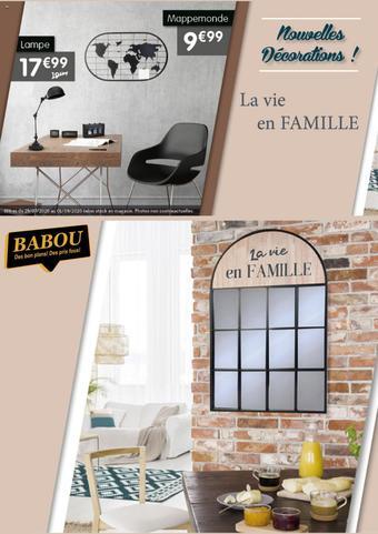 Babou catalogue publicitaire (valable jusqu'au 01-09)