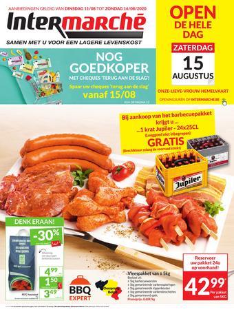 Intermarché reclame folder (geldig t/m 16-08)