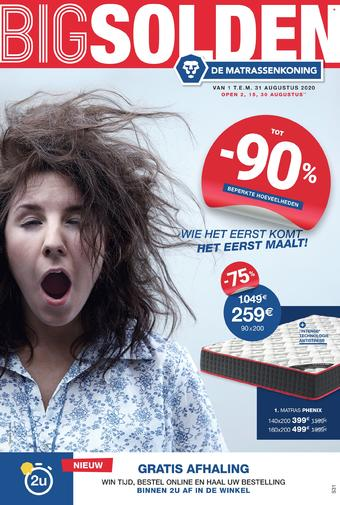 De Matrassenkoning reclame folder (geldig t/m 31-08)