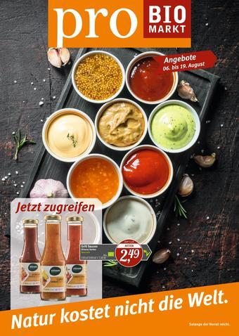 Pro Biomarkt Prospekt (bis einschl. 19-08)