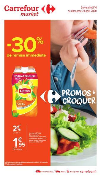Carrefour Market catalogue publicitaire (valable jusqu'au 23-08)