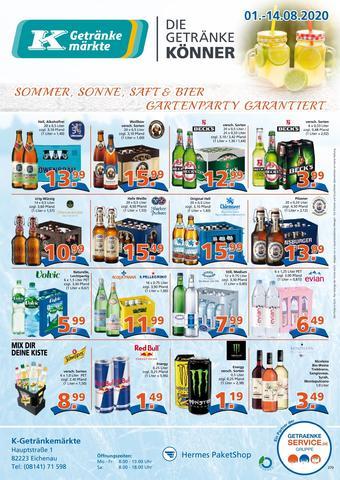 K-Getränkemarkt Prospekt (bis einschl. 14-08)