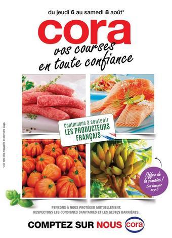 Cora catalogue publicitaire (valable jusqu'au 08-08)